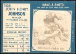 1961 Topps #105  John Henry Johnson  Back Thumbnail