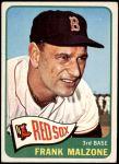 1965 Topps #315  Frank Malzone  Front Thumbnail