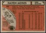 1980 Topps #496  Haven Moses  Back Thumbnail