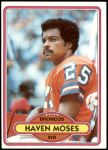 1980 Topps #496  Haven Moses  Front Thumbnail
