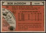 1980 Topps #398  Bob Jackson  Back Thumbnail