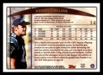 1998 Topps #14  Kerry Collins  Back Thumbnail