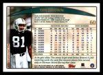 1998 Topps #60  Tim Brown  Back Thumbnail