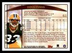 1998 Topps #61  Doug Evans  Back Thumbnail