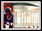 1998 Topps #110  Bruce Smith  Back Thumbnail