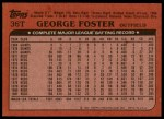 1982 Topps Traded #36 T George Foster  Back Thumbnail