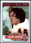 1980 Topps #380  Gary Fencik  Front Thumbnail