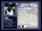2000 Topps #144  Torry Holt  Back Thumbnail