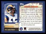 2000 Topps #321   -  Kurt Warner  Highlights Back Thumbnail