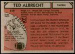 1980 Topps #519  Ted Albrecht  Back Thumbnail