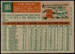 1959 Topps #185  Jim Busby  Back Thumbnail