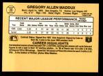 1987 Donruss #36  Greg Maddux  Back Thumbnail