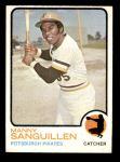 1973 Topps #250  Manny Sanguillen  Front Thumbnail