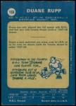 1969 O-Pee-Chee #153  Duane Rupp  Back Thumbnail