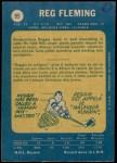 1969 O-Pee-Chee #95  Reg Fleming  Back Thumbnail