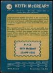 1969 O-Pee-Chee #114  Keith McCreary  Back Thumbnail