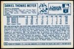 1978 Kellogg's #12  Dan Meyer  Back Thumbnail