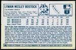 1978 Kellogg's #46  Lyman Bostock  Back Thumbnail