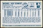 1978 Kellogg's #3  Mike Schmidt  Back Thumbnail
