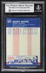 1987 Fleer #604  Barry Bonds  Back Thumbnail