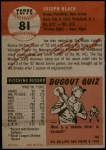 1953 Topps #81  Joe Black  Back Thumbnail