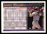 1998 Topps #2  Larry Walker  Back Thumbnail