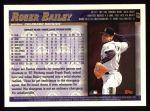 1998 Topps #63  Roger Bailey  Back Thumbnail