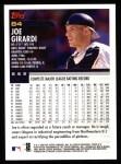 2000 Topps #84  Joe Girardi  Back Thumbnail