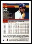 2000 Topps #125  John Smoltz  Back Thumbnail