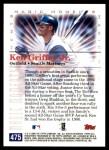 2000 Topps #475 D  -  Ken Griffey Jr. 1992 All-Star MVP - Magic Moments Back Thumbnail