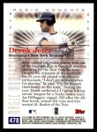 2000 Topps #478 A  -  Derek Jeter 1996 AL Rookie of the Year - Magic Moments Back Thumbnail