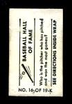 1948 Topps Magic Photo #16 K Cy Young  Back Thumbnail
