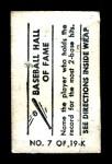 1948 Topps Magic Photo #7 K Tris Speaker  Back Thumbnail