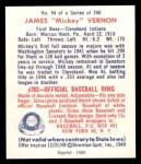 1949 Bowman REPRINT #94  Mickey Vernon  Back Thumbnail