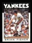 1986 Topps #584  Brian Fisher  Front Thumbnail