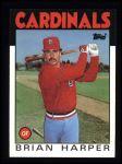 1986 Topps #656  Brian Harper  Front Thumbnail