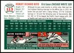 1954 Topps Archives #113  Bob Boyd  Back Thumbnail