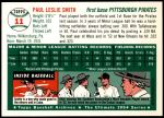 1954 Topps Archives #11  Paul Smith  Back Thumbnail