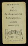 1910 T209-2 Contentnea  Bourquin  Back Thumbnail