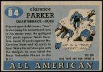1955 Topps #84  Ace Parker   Back Thumbnail