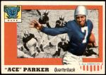 1955 Topps #84  Ace Parker   Front Thumbnail
