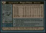 1980 Topps #87  Pepe Frias  Back Thumbnail