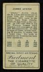 1911 T205  Jimmy Austin  Back Thumbnail