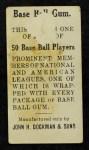 1909 E92 Dockman  Sherry Magee  Back Thumbnail