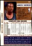 1998 Topps #50  Micheal Williams  Back Thumbnail
