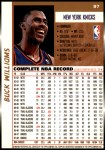 1998 Topps #97  Buck Williams  Back Thumbnail