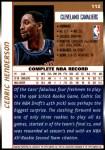 1998 Topps #112  Cedric Henderson  Back Thumbnail