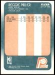 1988 Fleer #57  Reggie Miller  Back Thumbnail