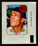1969 Topps Decals  Maury Wills  Front Thumbnail