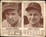 1941 Double Play #129  / 130 Nelson Potter / Benny McCoy  Front Thumbnail
